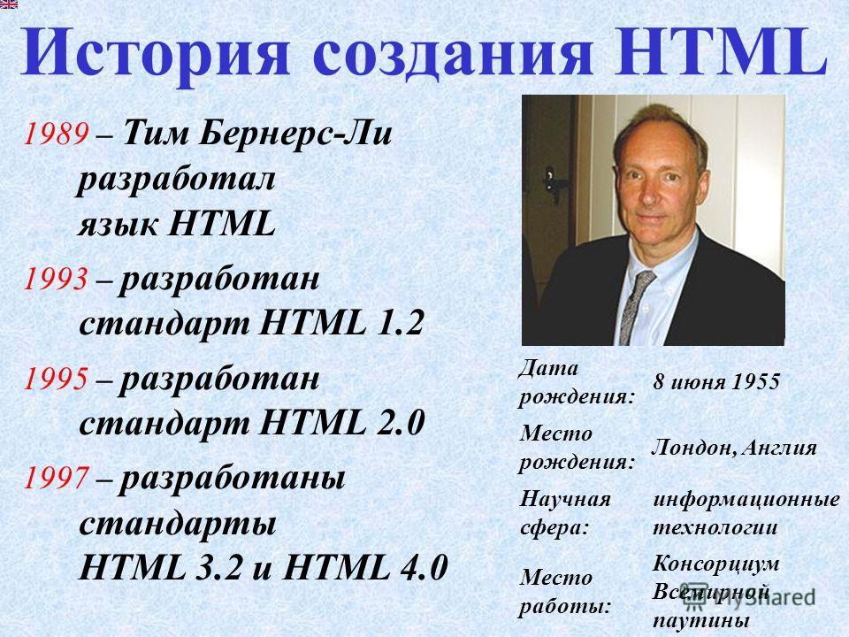 – это язык для создания Web-ресурсов. HTML (англ. Hyper Text Markup Language ) язык разметки гипертекста