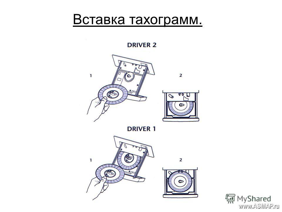 Вставка тахограмм. www.ASMAP.ru