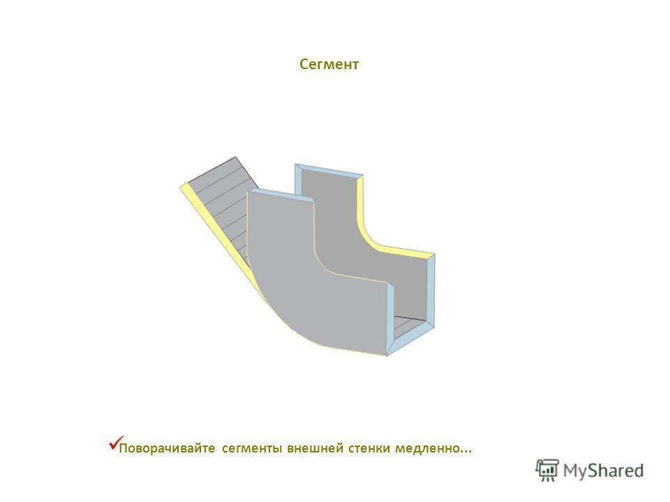 Поворачивайте сегменты внешней стенки медленно... Сегмент