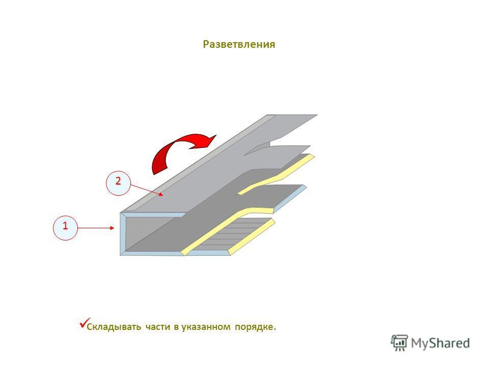Складывать части в указанном порядке. 1 2 Разветвления