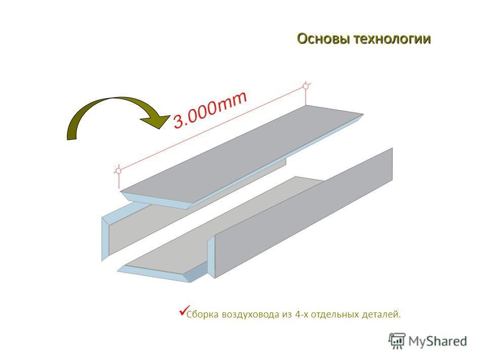 Сборка воздуховода из 4-х отдельных деталей. Основы технологии