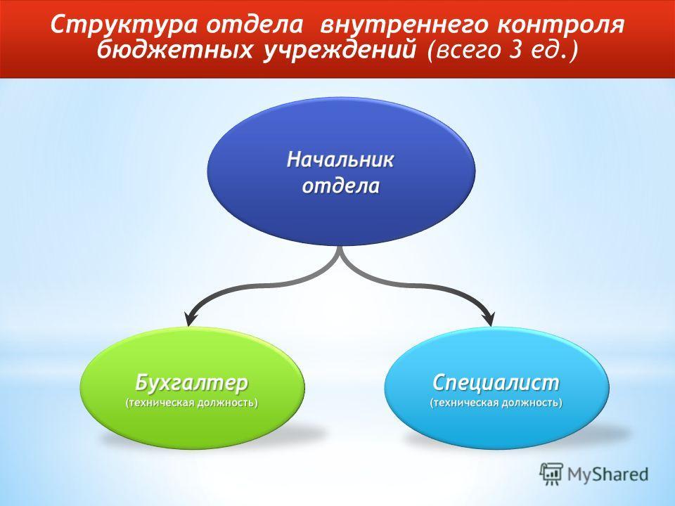 Структура отдела внутреннего контроля бюджетных учреждений (всего 3 ед.)