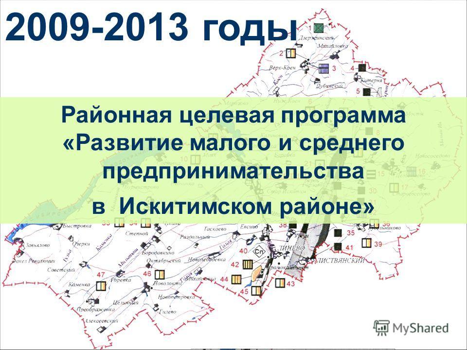 Районная целевая программа «Развитие малого и среднего предпринимательства в Искитимском районе» 2009-2013 годы