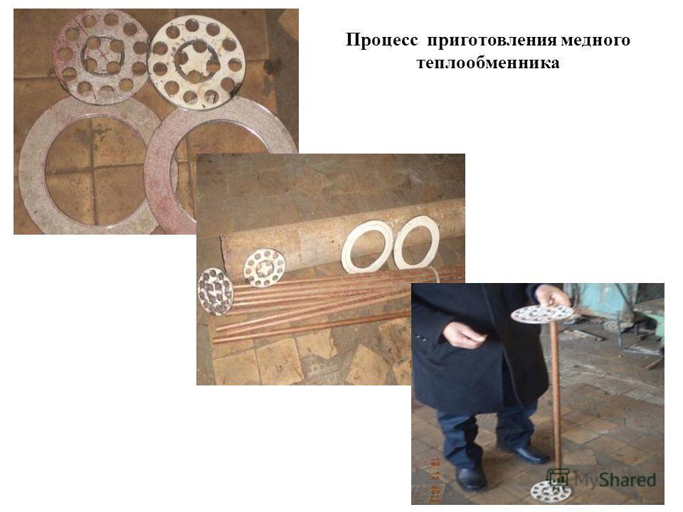 Процесс приготовления медного теплообменника