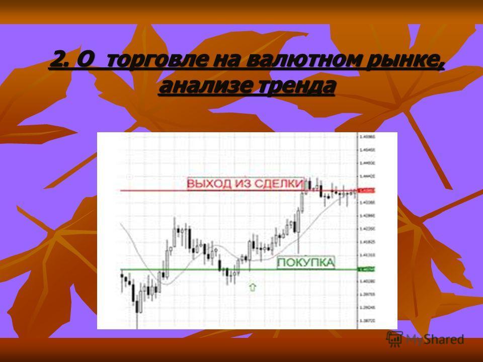 2. О торговле на валютном рынке, анализе тренда