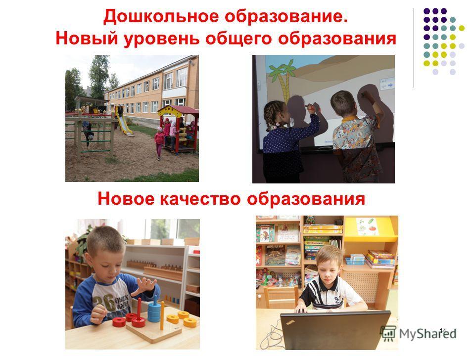 14 Дошкольное образование. Новый уровень общего образования Новое качество образования