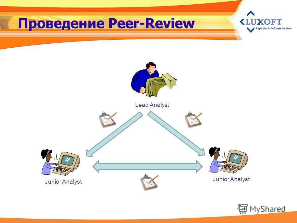 Проведение Peer-Review Lead Analyst Junior Analyst