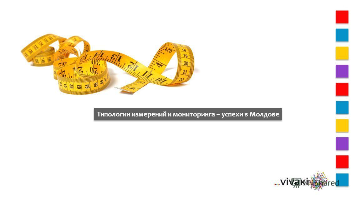 Типологии измерений и мониторинга – успехи в Молдове