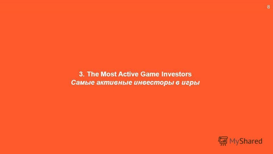 8 3. The Most Active Game Investors Самые активные инвесторы в игры