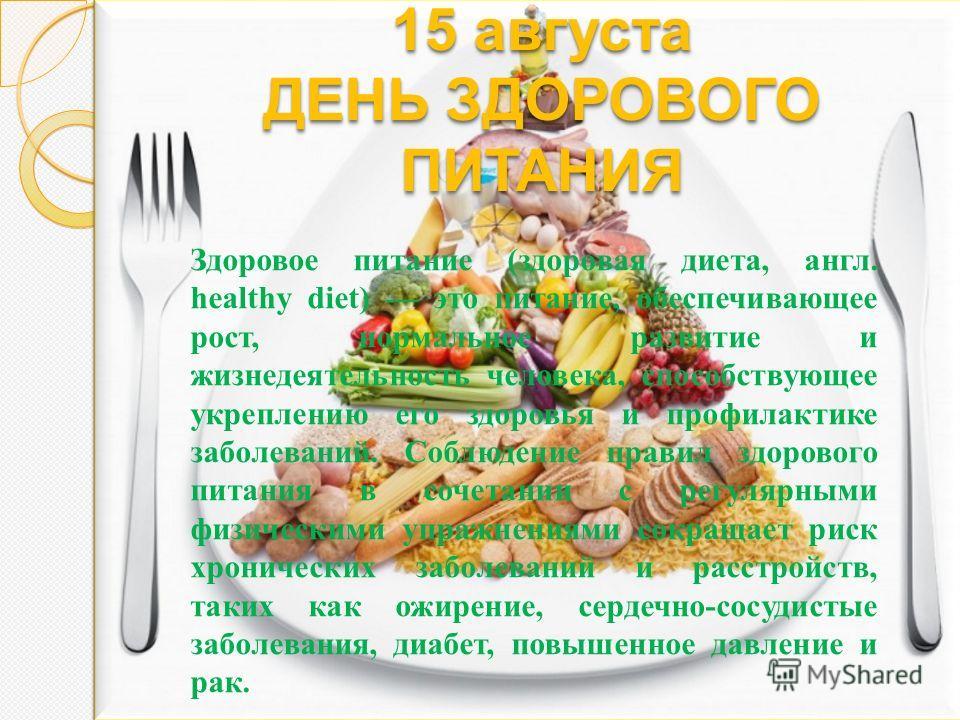 день здорового питания и отказа от излишеств