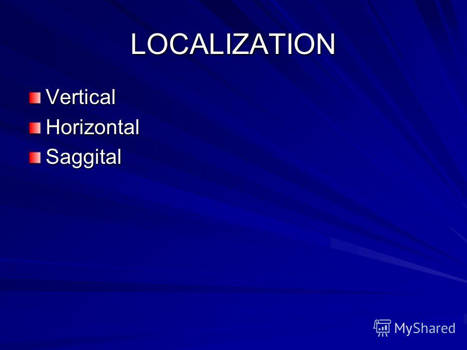 LOCALIZATION VerticalHorizontalSaggital
