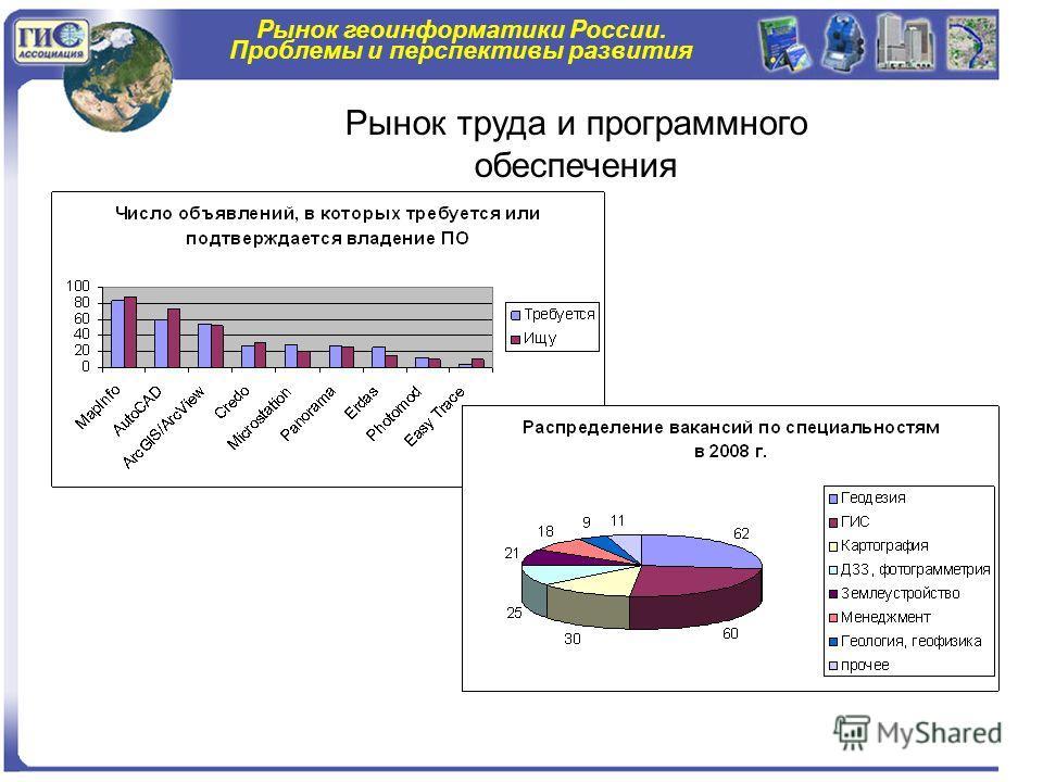 Рынок геоинформатики России. Проблемы и перспективы развития Рынок труда и программного обеспечения