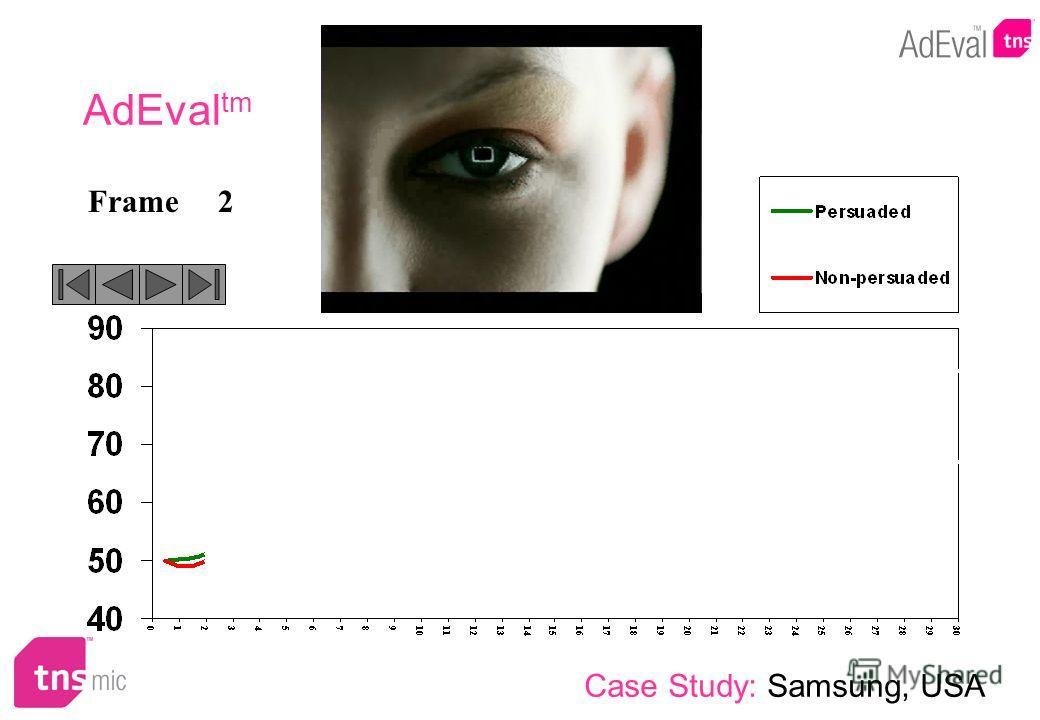 2Frame AdEval tm Case Study: Samsung, USA