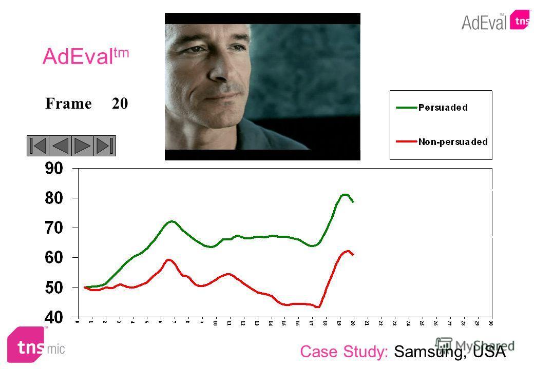 20Frame AdEval tm Case Study: Samsung, USA