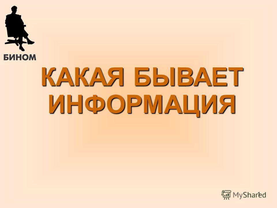 1 КАКАЯ БЫВАЕТ ИНФОРМАЦИЯ Б.П.Сайков, 09.06.