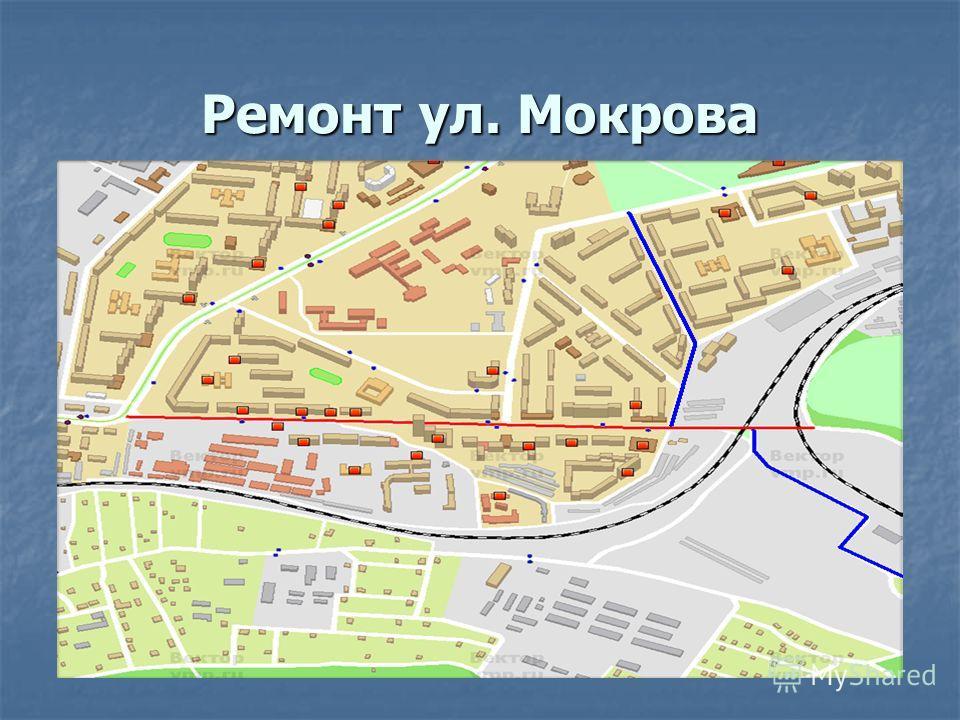 Ремонт ул. Мокрова