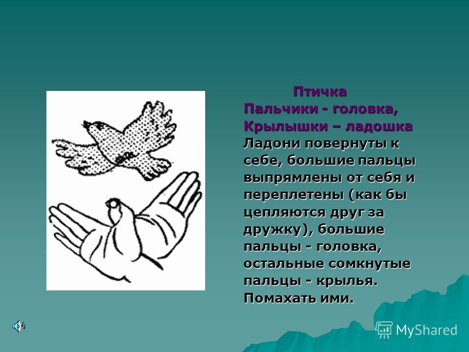 Цепочка Цепочка Пальчики перебираем И цепочку получаем. Большой и указательный пальцы левой руки в кольце. Через него попеременно пропускаются колечки из пальчиков правой руки: большой - указательный, большой средний и т. д. Это упражнение можно варь