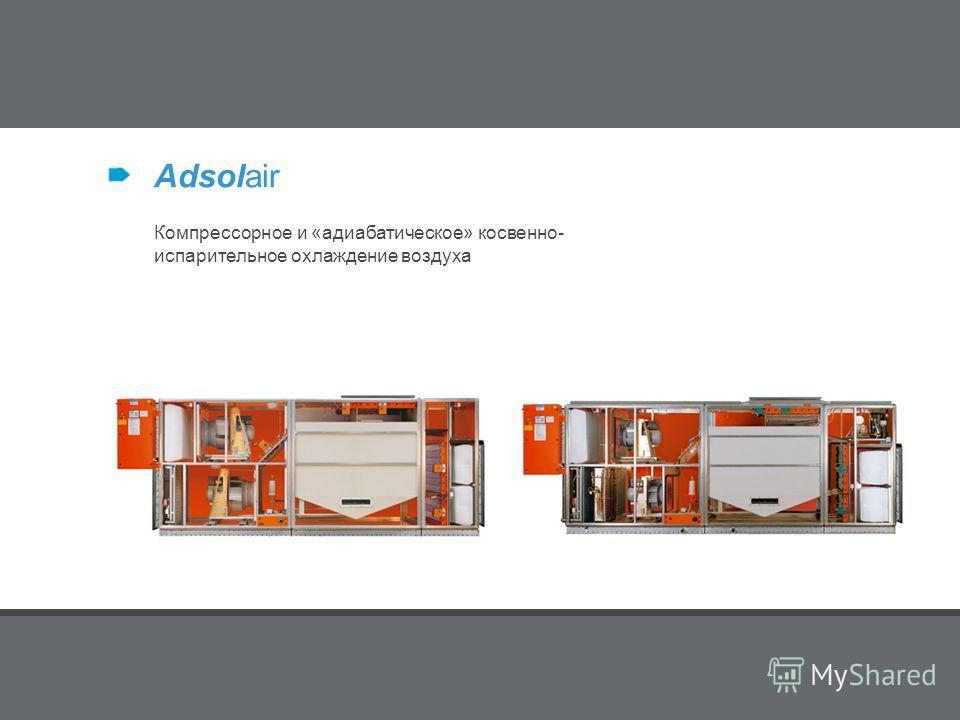 Produkte Adsolair Компрессорное и «адиабатическое» косвенно- испарительное охлаждение воздуха