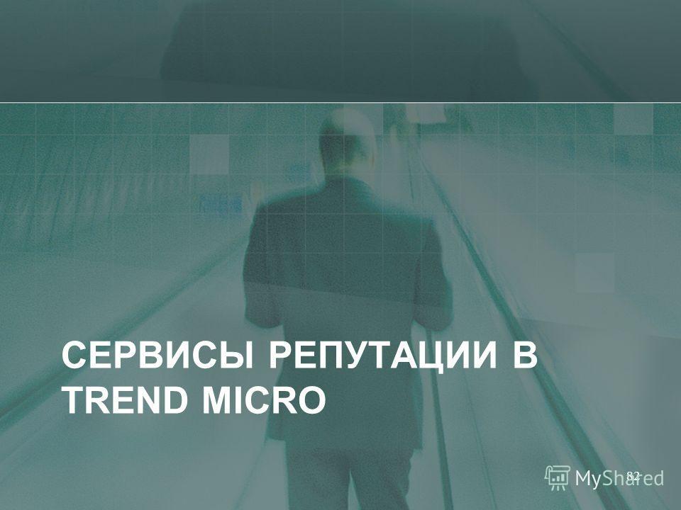СЕРВИСЫ РЕПУТАЦИИ В TREND MICRO 82