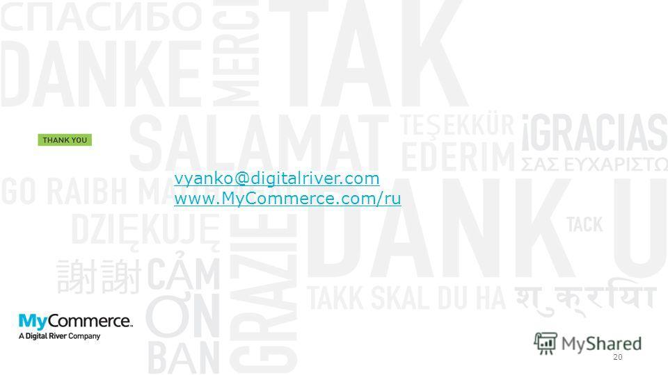 20 vyanko@digitalriver.com www.MyCommerce.com/ru