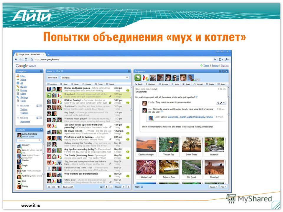 www.it.ru Попытки объединения «мух и котлет»