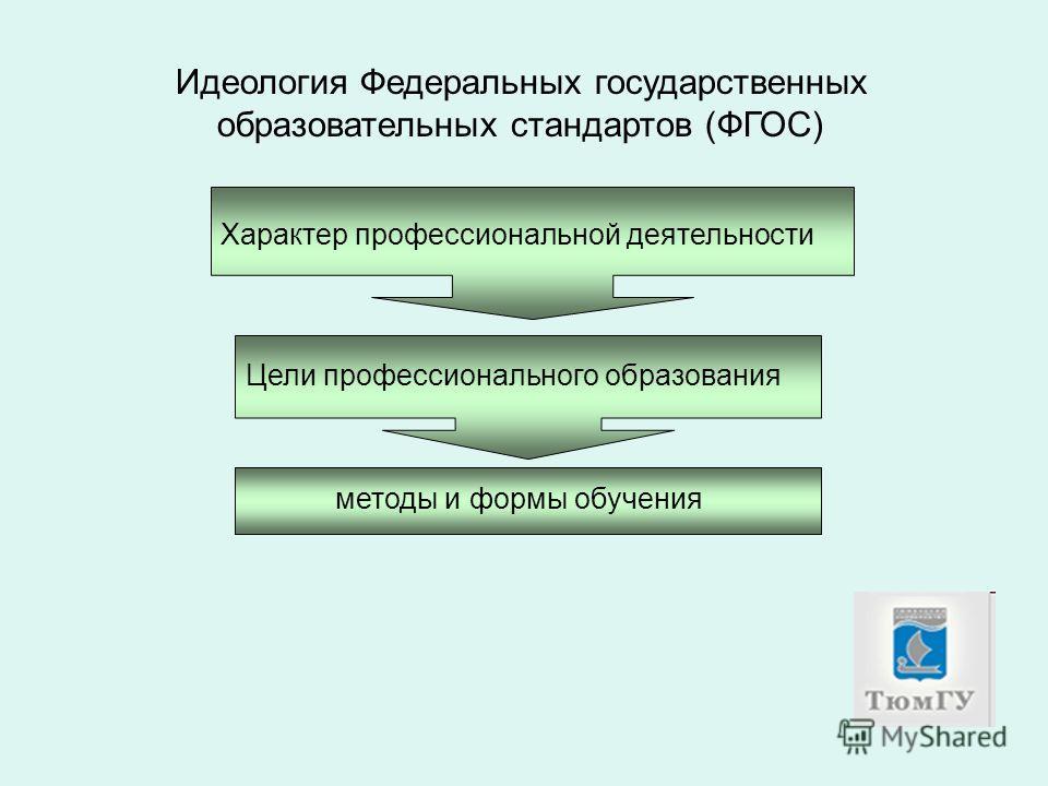 Характер профессиональной деятельности Цели профессионального образования методы и формы обучения Идеология Федеральных государственных образовательных стандартов (ФГОС)