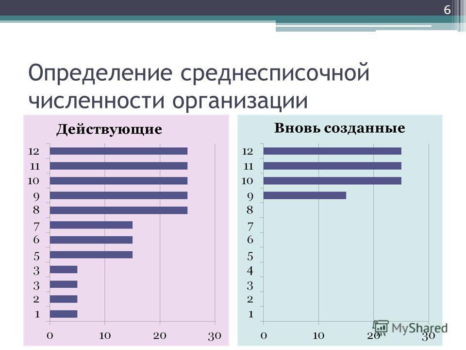 Определение среднесписочной численности организации 6