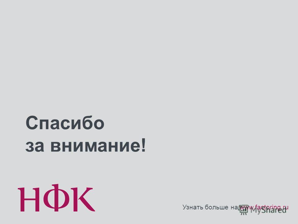 Спасибо за внимание! Узнать больше на www.factoring.ru