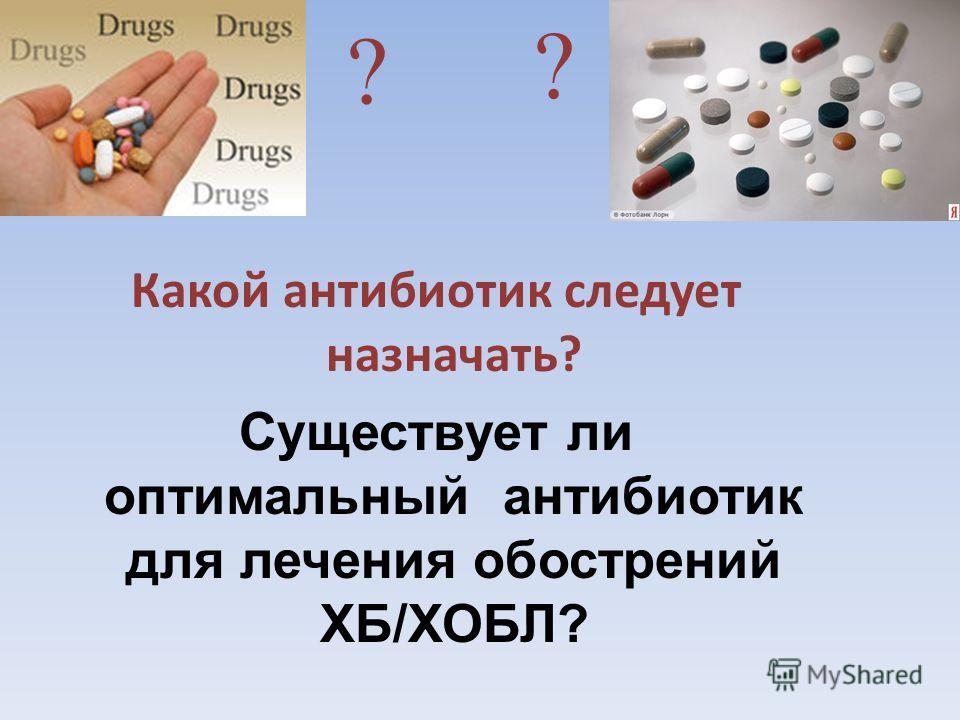 Какой антибиотик следует назначать? Существует ли оптимальный антибиотик для лечения обострений ХБ/ХОБЛ? ? ?