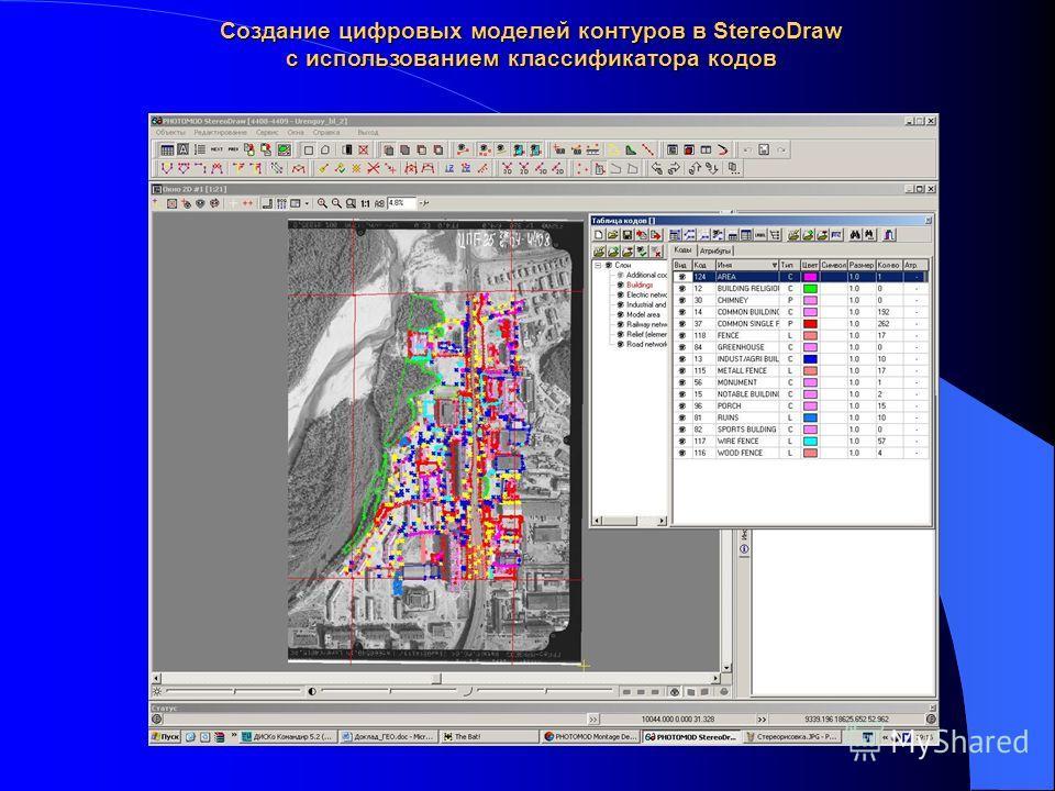 Создание цифровых моделей контуров в StereoDraw c использованием классификатора кодов
