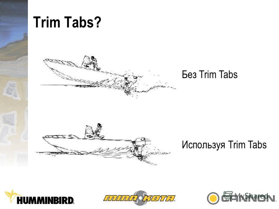 Trim Tabs? Без Trim Tabs Используя Trim Tabs