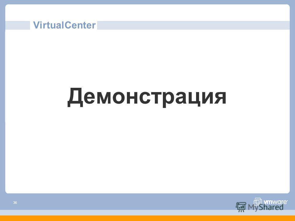 36 VirtualCenter Демонстрация