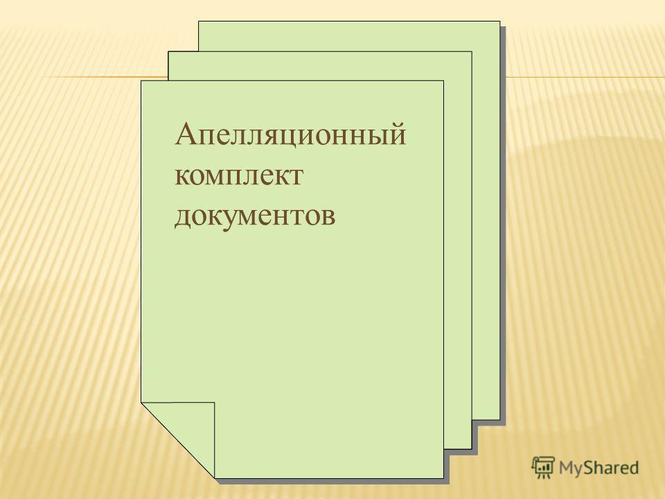 Апелляционный комплект документов
