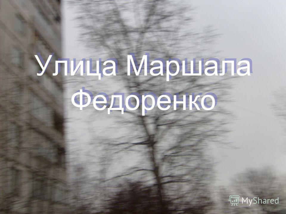 Улица Маршала Федоренко Улица Маршала Федоренко