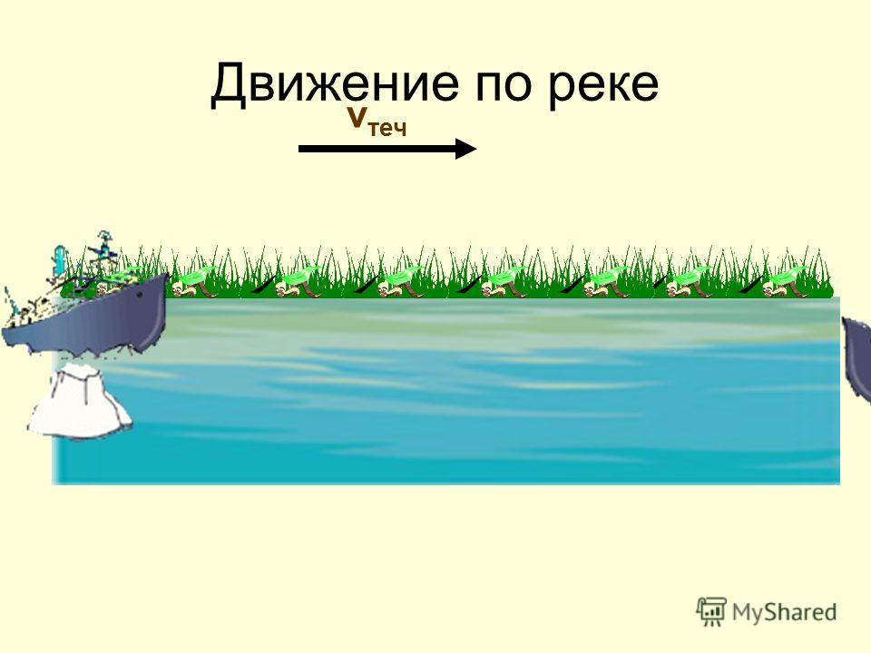 v теч Движение по реке