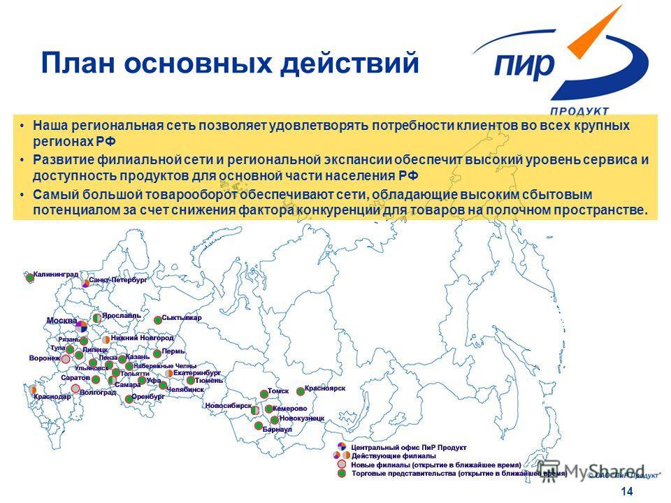 14 Наша региональная сеть позволяет удовлетворять потребности клиентов во всех крупных регионах РФ Развитие филиальной сети и региональной экспансии обеспечит высокий уровень сервиса и доступность продуктов для основной части населения РФ Самый больш