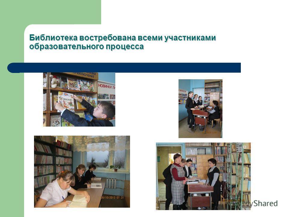 Библиотека востребована всеми участниками образовательного процесса