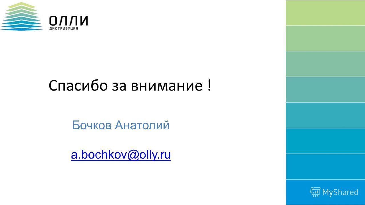 28 Спасибо за внимание ! Бочков Анатолий a.bochkov@olly.ru