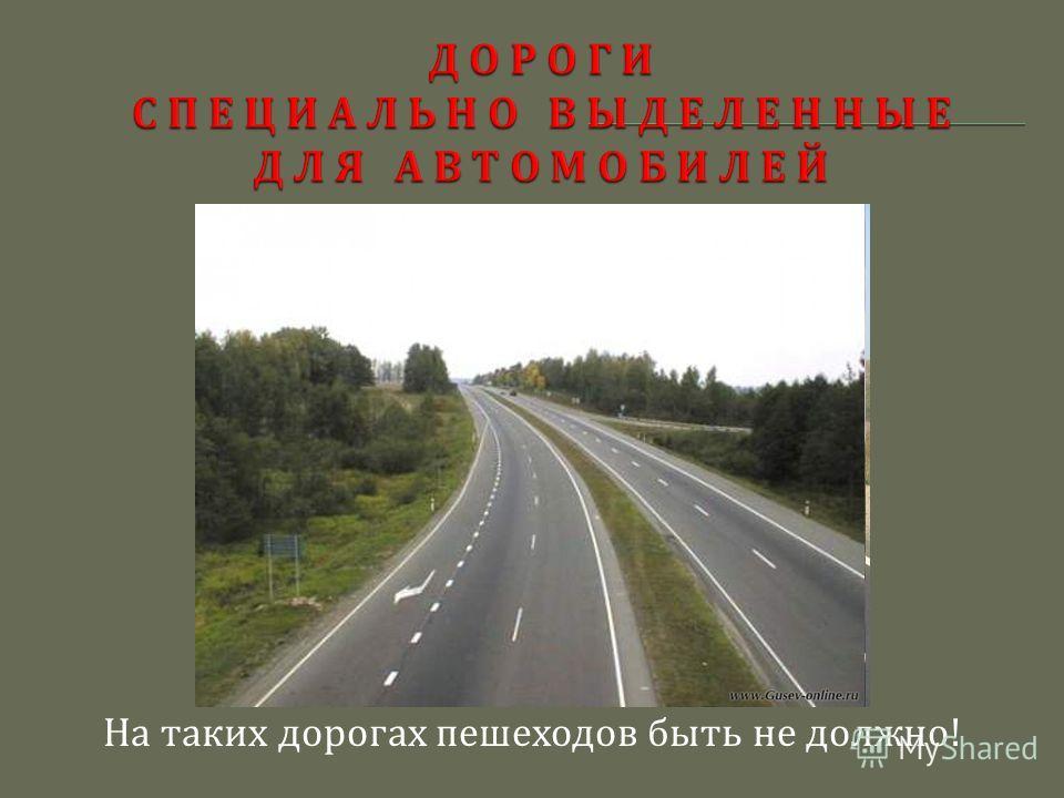 На таких дорогах пешеходов быть не должно !