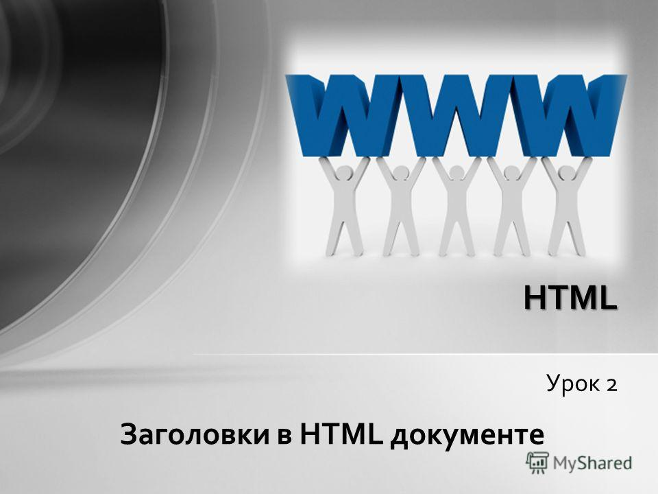 Урок 2 HTML Заголовки в HTML документе
