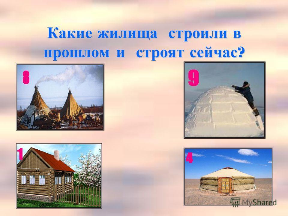 Какие жилища строили в прошлом и строят сейчас ?