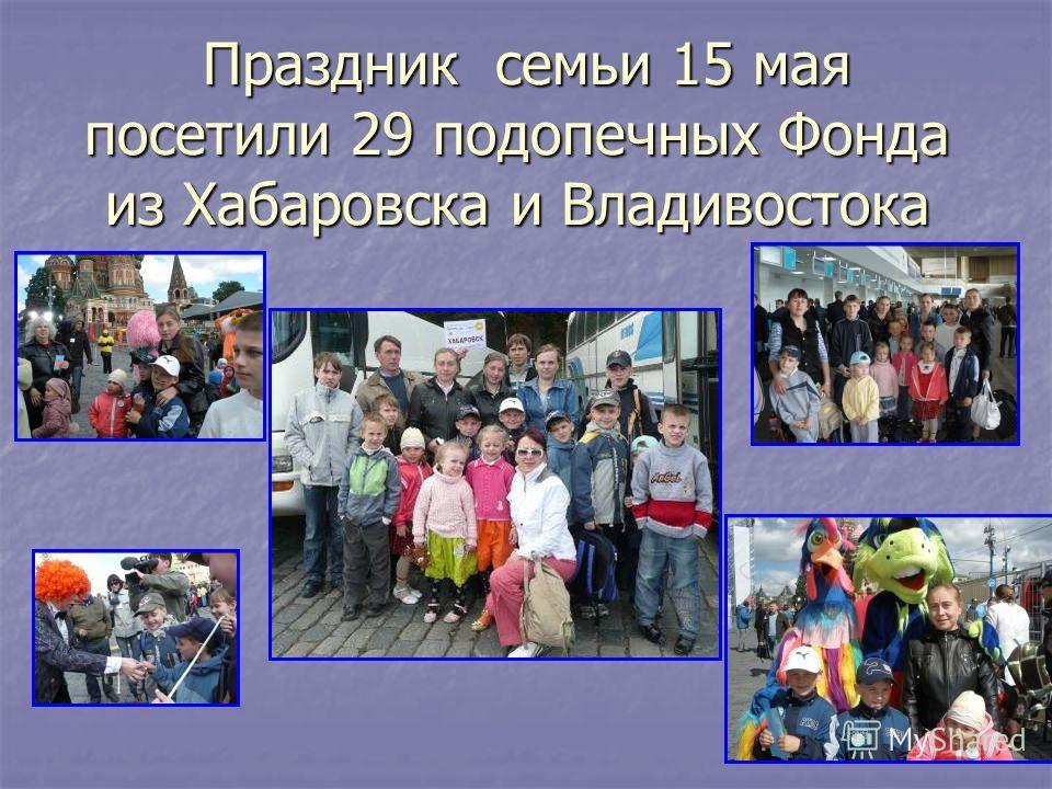 Праздник семьи 15 мая посетили 29 подопечных Фонда из Хабаровска и Владивостока Праздник семьи 15 мая посетили 29 подопечных Фонда из Хабаровска и Владивостока