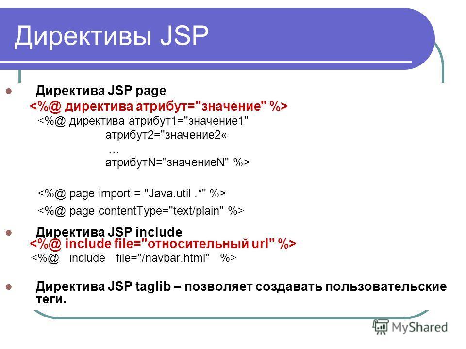 Директива JSP page