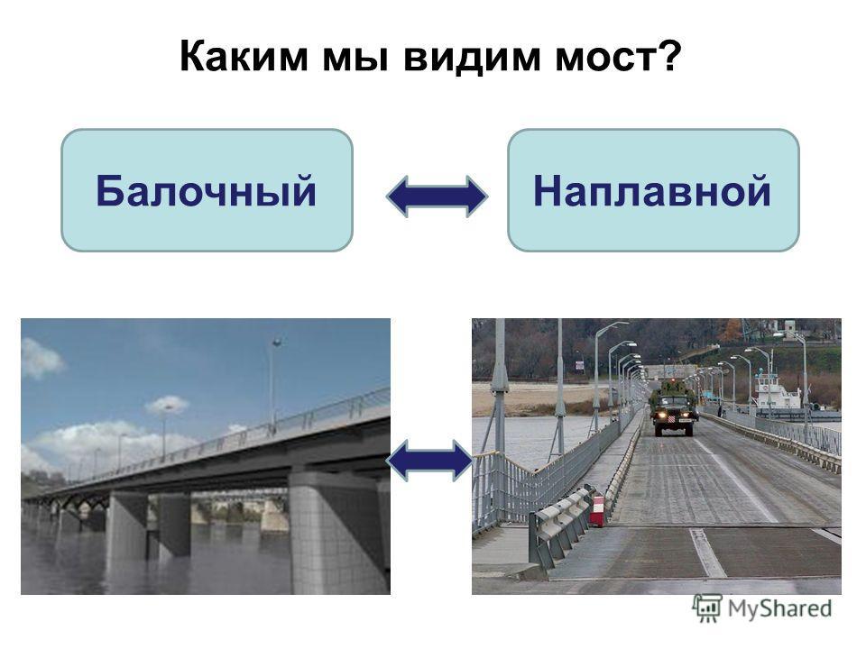 Каким мы видим мост? БалочныйНаплавной