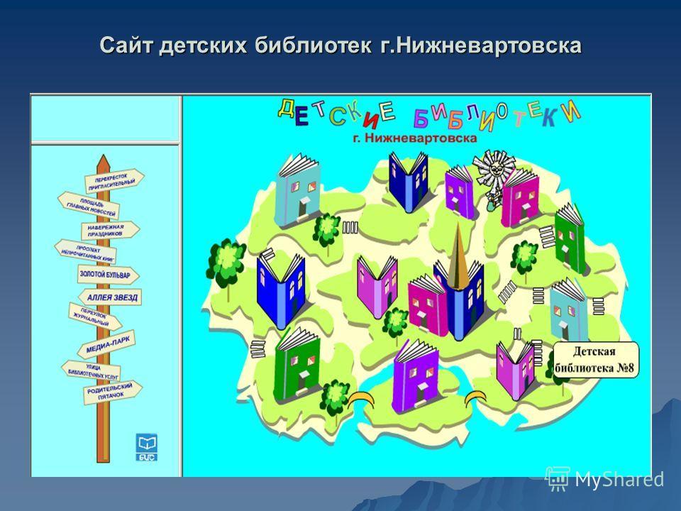 Сайт детских библиотек г.Нижневартовска