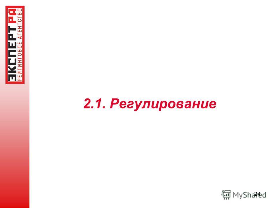 2.1. Регулирование 24