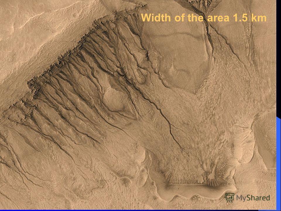 Width of the area 1.5 km