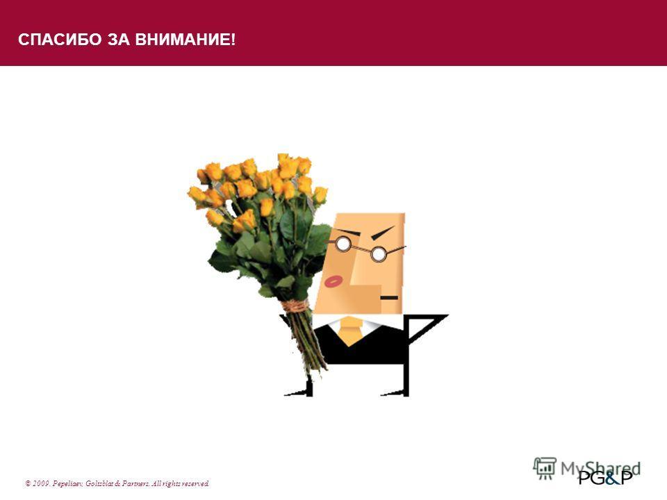 СПАСИБО ЗА ВНИМАНИЕ! © 2009. Pepeliaev, Goltsblat & Partners. All rights reserved.