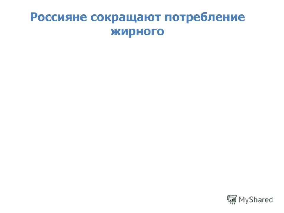 Source: Nielsen Retail Audit, December-January 2013 Россияне сокращают потребление жирного