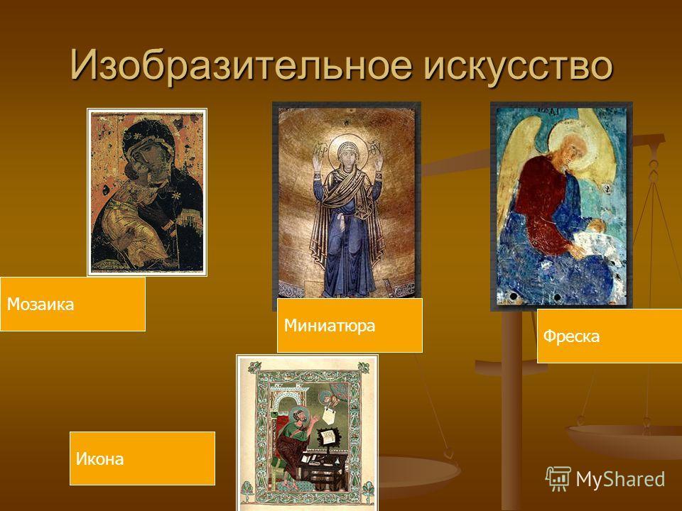 Изобразительное искусство Фреска Икона Мозаика Миниатюра